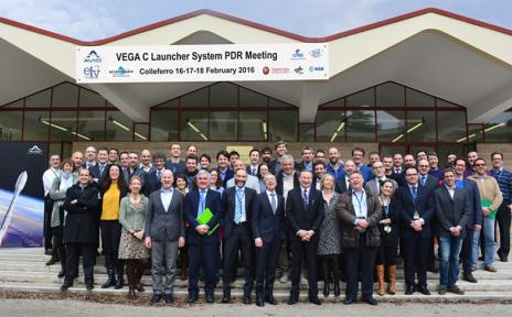 Space experts at Vega C launcher meeting in Colleferro